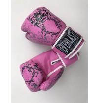 Перчатки боксерские Everlast Model D119 PU pink