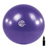 Мяч гимнаст.+массажный с насосом Lite Weights, фиолетовый,75 см арт.BB010-30
