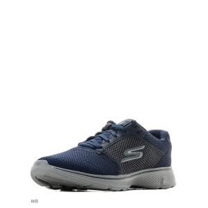Кроссовки мужские Skechers для бега GO WALK 4 синий/серый арт.54150-NVGY