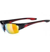 Очки солнцезащитные Uvex чёрный/красный арт.0604.2316