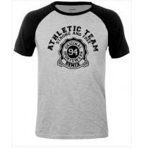 Футболка мужская Demix T-shirt серый/черный арт.KMAT03-AB
