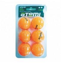 Мячи для наст тенниса Атеми 2*, 6 шт., ATB201