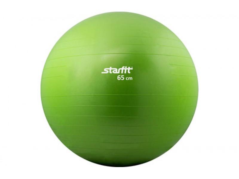 Мяч гимнастический Starfit, зеленый, антивзрыв, 65 см арт.GB-101-65-G