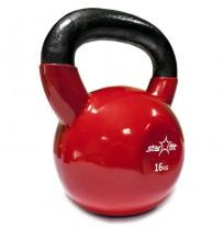 Гиря виниловая STARFIT,16 кг,красный арт. DB-401-16