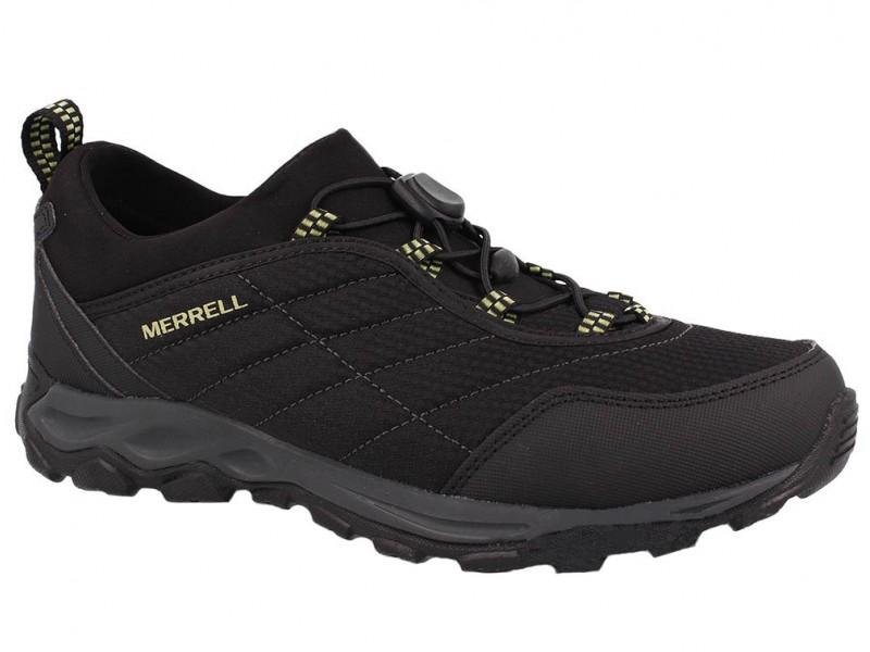 Полуботинки мужские  утеплённые Merrell ICE CAP 4 STRECH MOC черный/бордовый арт.09629