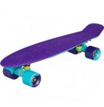 Пенниборд-круизер Ridex, ABEC-9, фиолетовый/голубой, (22x6), пластик арт.RDX-9671