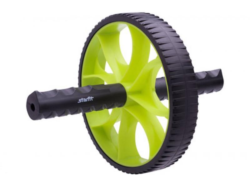 Колесо гимнастическое STARFIT, зеленый/черный RL-103