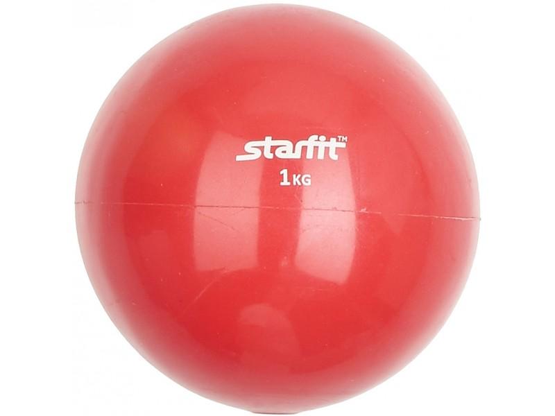 Медицинбол Starfit 1кг, красный, арт.GB-703-1