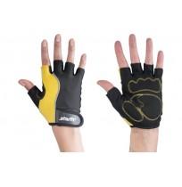 Перчатки для фитнеса STARFIT, жел/чер арт.SU-108-S