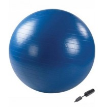 Мяч гимнастический с насосом (синий) 65 см