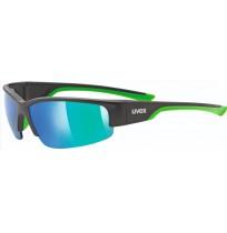 Очки солнцезащитные Uvex чёрный матовый/зеленый арт.0617.2716