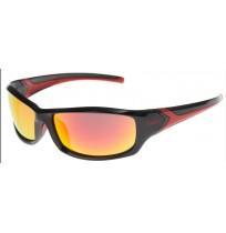 Очки солнцезащитные Uvex чёрный матовый/красный арт.0618.2230