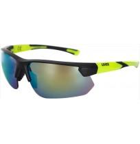 Очки солнцезащитные Uvex чёрный матовый/желтый арт.0981.2616