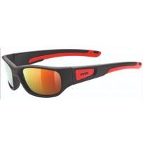 Очки солнцезащитные детские Uvex чёрный мат./красный арт.3865.2316