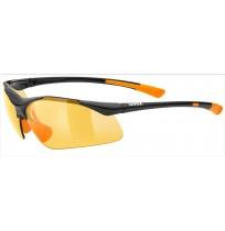 Очки солнцезащитные Uvex чёрный/оранжевый арт.0982.2212