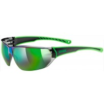 Очки солнцезащитные Uvex черный/зеленый арт.0525.7716