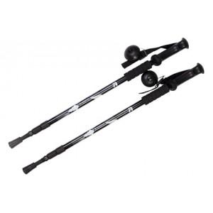 Палки для скандинавской ходьбы FORA, телескоп., длина 65-135 см (черн.) XG-01