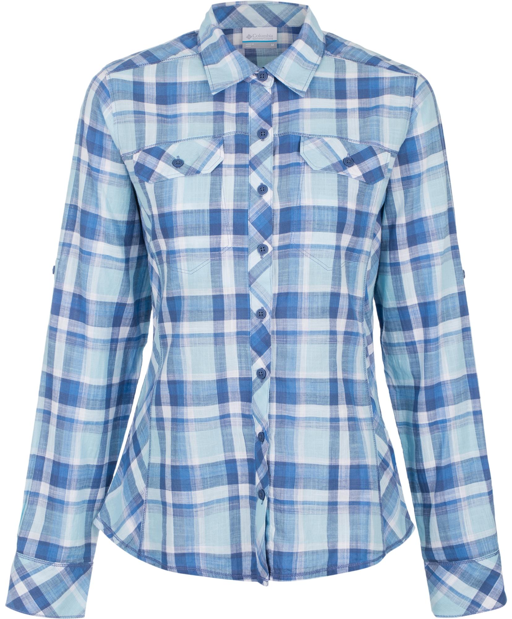 7f98aabbd16 Рубашка женская Columbia Camp Henry™ сиреневая клетка арт.1450321-509. 44.50 р.